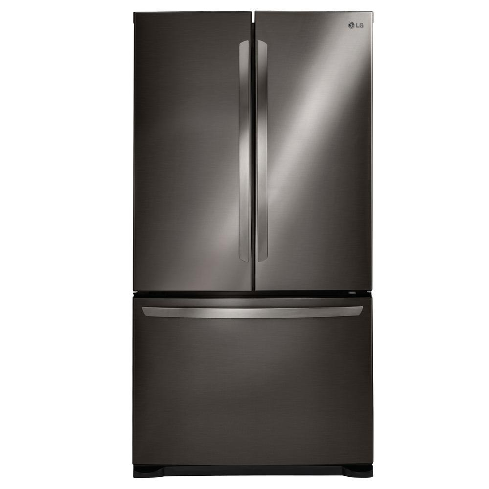 Lg electronics 20 9 cu ft french door refrigerator in for How to increase cabinet depth