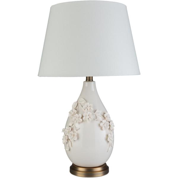Alaya 25.5 in. White Indoor Table Lamp
