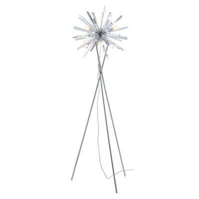Savoy 70.9 in. Chrome Floor Lamp