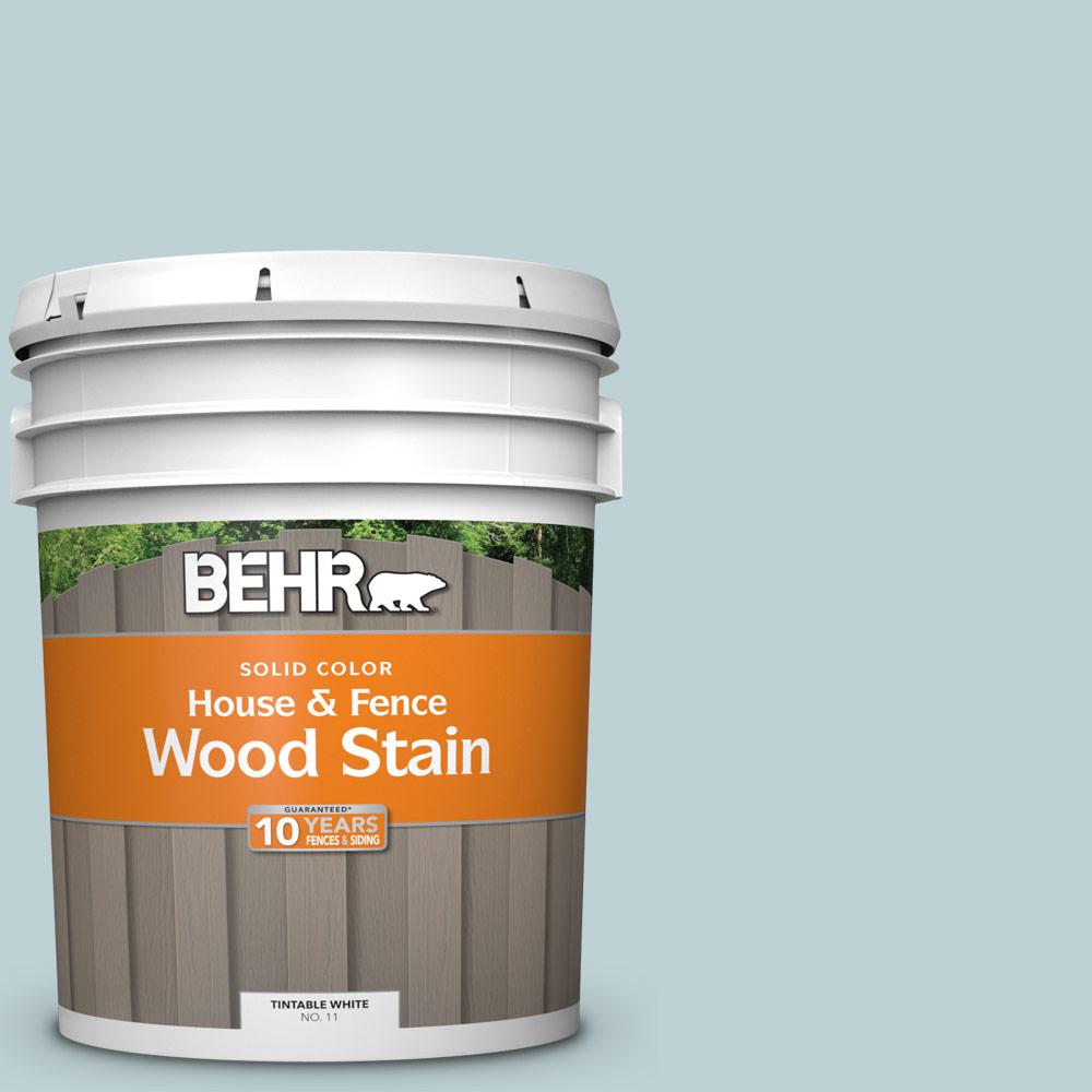 BEHR 5 gal. #500E-3 Rain Washed Solid Color House and Fence Exterior Wood Stain