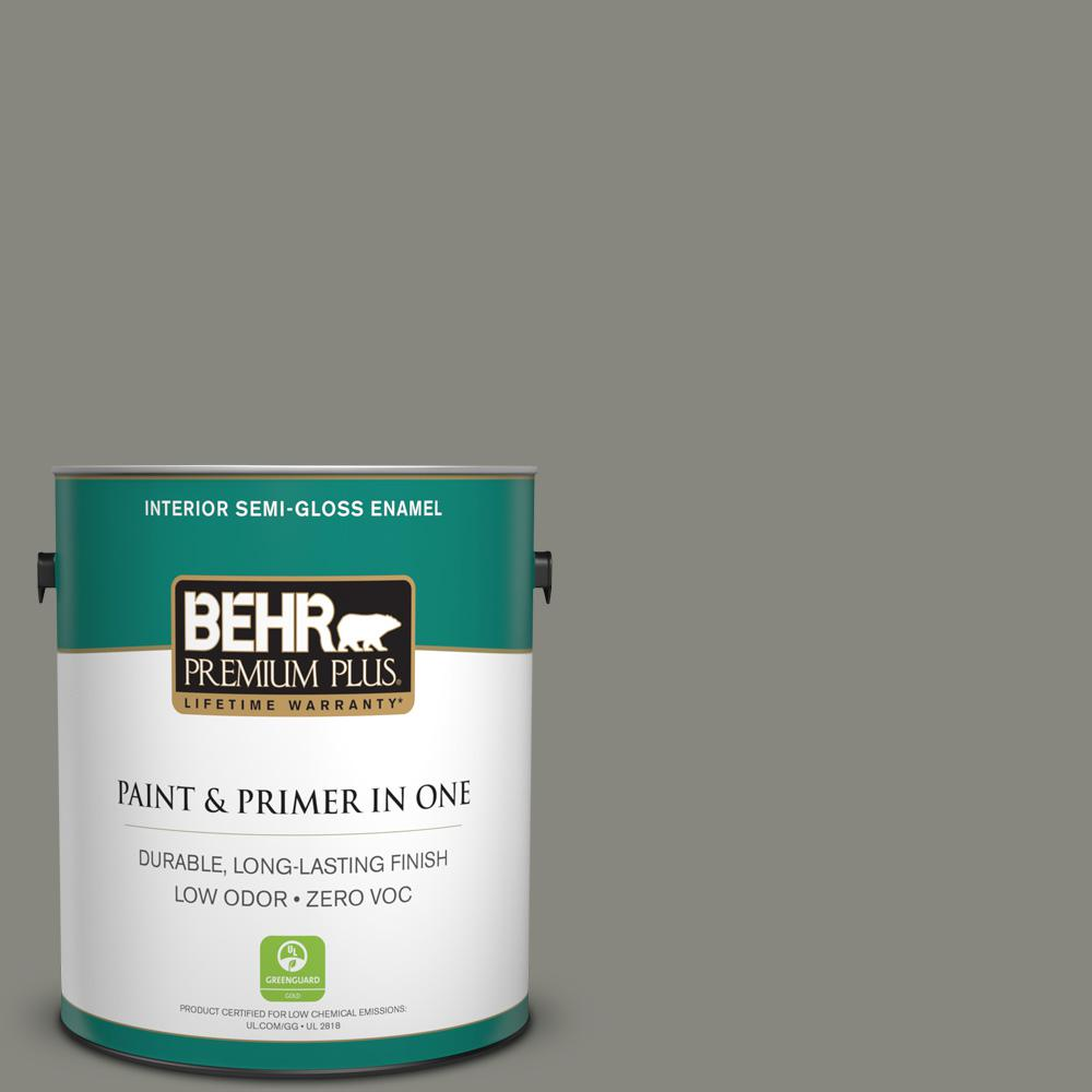 Home Decorators Collection 1 gal. #HDC-NT-23 Wet Cement Semi-Gloss Enamel Zero