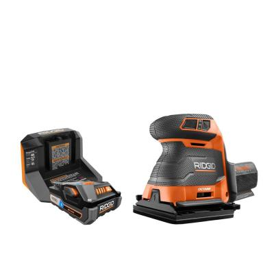 18-Volt OCTANE Cordless Brushless 3-Speed 1/4 Sheet Sander Kit with (1) OCTANE Bluetooth 3.0 Ah Battery and Charger