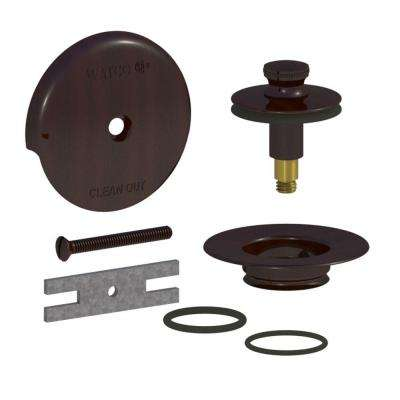 QuickTrim Lift and Turn Bathtub Stopper and 1-Hole Overflow with 2 O-Rings Trim Kit, Oil-Rubbed Bronze