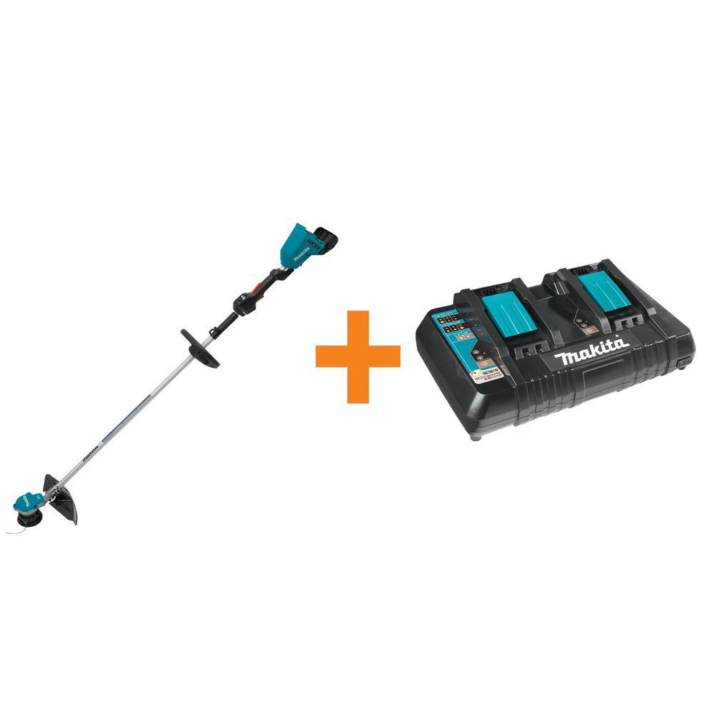 18-Volt X2 (36-Volt) LXT Brushless String Trimmer (Tool-Only) with Bonus 18-Volt LXT Dual Port Rapid Optimum Charger