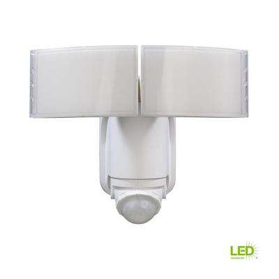 180° White Solar Powered Motion LED Security Light with Battery Backup - Solar - Outdoor Lighting - Lighting - The Home Depot