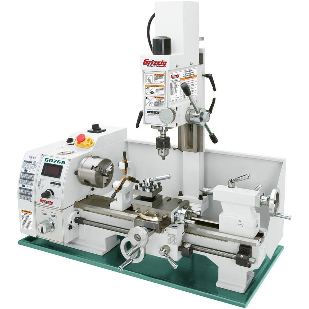 Grizzly Industrial 8 In. X 16 In. Lathe With Milling Head