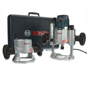 Bosch 15 Amp Corded Variable Speed Combination Plunge & Fixed-Base Router Pack with Hard... by Bosch