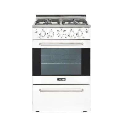 Prestige 24 in. 2.3 cu. ft. Gas Convection Range Sealed 4-Burners in White