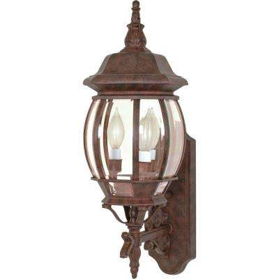 3-Light - 22 in. Wall Lantern with Clear Beveled Glass Old Bronze