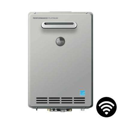 Performance Platinum 9.0 GPM Natural Gas High Efficiency Outdoor Smart Tankless Water Heater