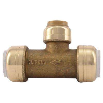 1/2 in. IPS x 1/2 in. IPS x 1/2 in. CTS Brass Push-to-Connect PVC Slip Tee