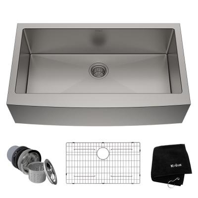 Standart PRO Farmhouse Apron-Front Stainless Steel 36 in. Single Bowl Kitchen Sink
