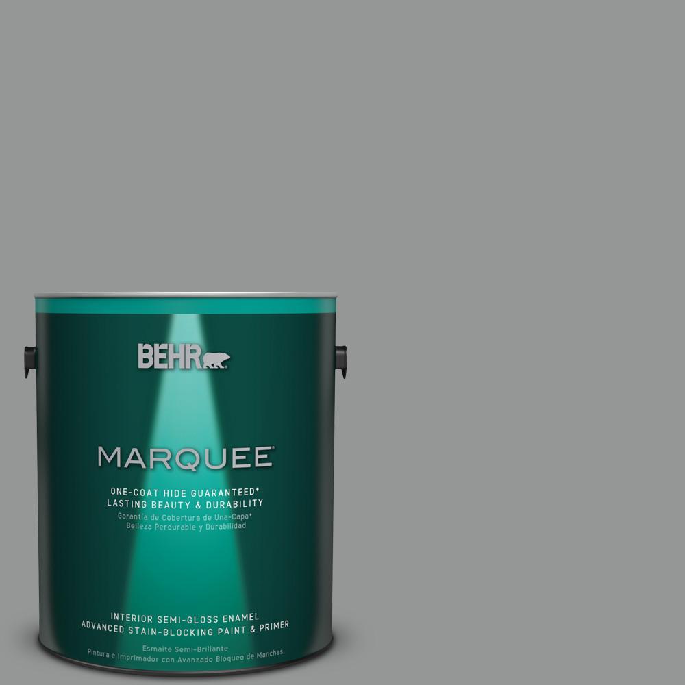 1 gal. #PPU24-19 Shark Fin Semi-Gloss Enamel Interior Paint