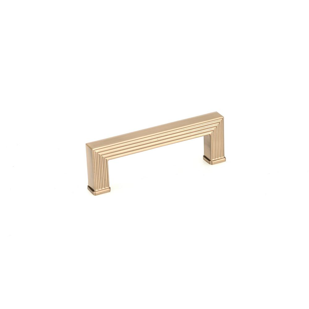 3-25/32 in. (96 mm) Champagne Bronze Cabinet Pull