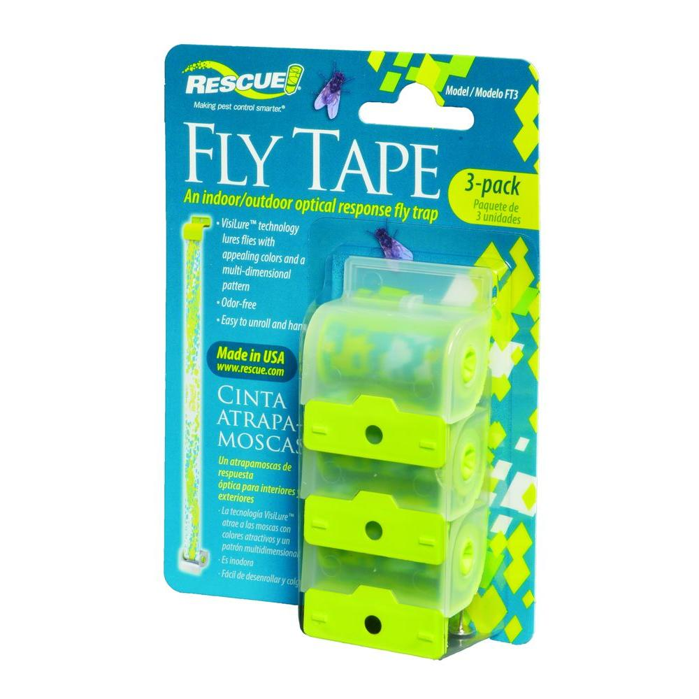 Rescue Fly Tape 3 Pack Free Ship Fly Strip Fly Trap Business & Industrial