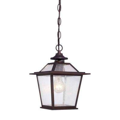 Salem Collection Hanging 1-Light Architectural Bronze Outdoor Ceiling Light