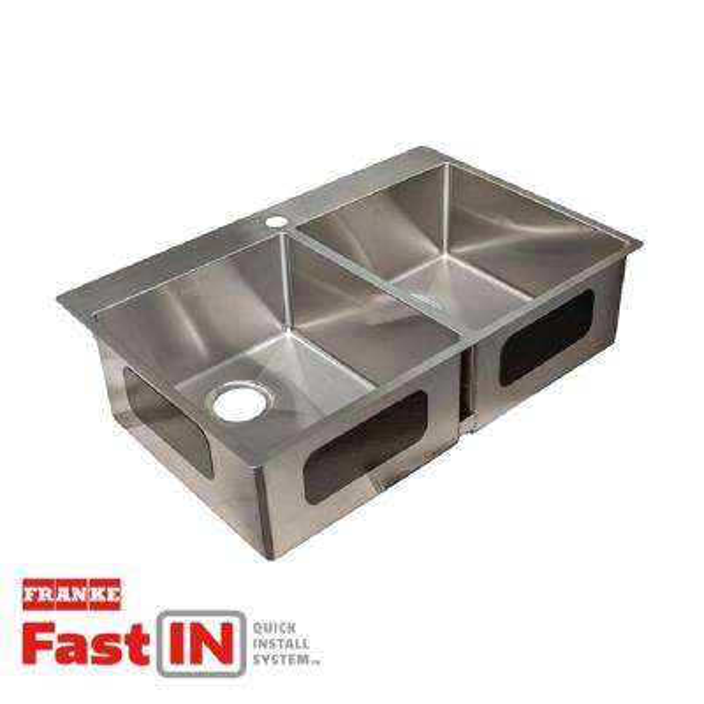 Frankie Kitchen Sink Franke kitchen sinks kitchen the home depot vector 9 in deep dual mount stainless steel 335 in 1 workwithnaturefo
