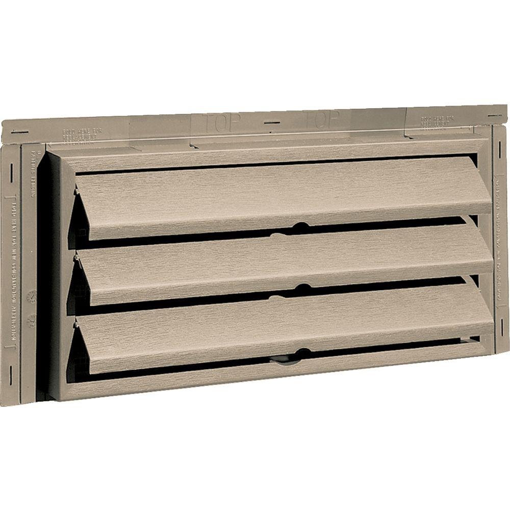 Builders Edge 9.375 in. x 18 in. Foundation Vent without Ring for New Construction, #085-Clay-DISCONTINUED