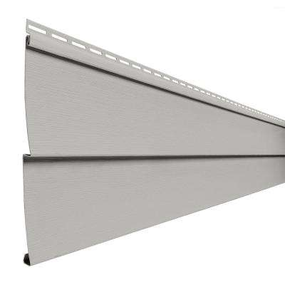 Double 5 in. x 144 in. Pewter Vinyl Lap Siding