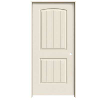 36 in. x 80 in. Santa Fe Primed Left-Hand Smooth Solid Core Molded Composite MDF Single Prehung Interior Door