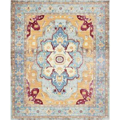 Blue Bohemian 13 X 16 Area Rugs Rugs The Home Depot