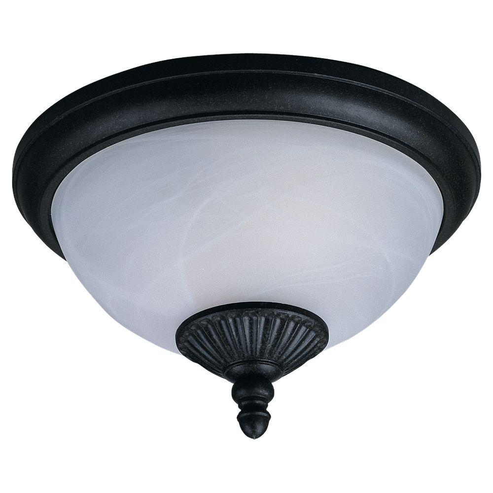 Sea Gull Lighting Yorktown 2-Light Forged Iron Outdoor Ceiling ...