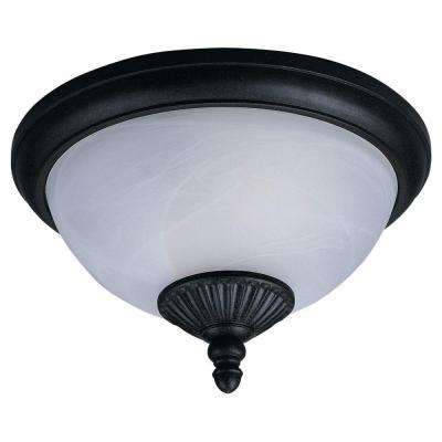 Yorktown 2-Light Forged Iron Outdoor Ceiling Fixture