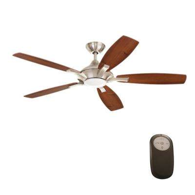 Remote control included ceiling fans lighting the home depot Home decorators petersford fan