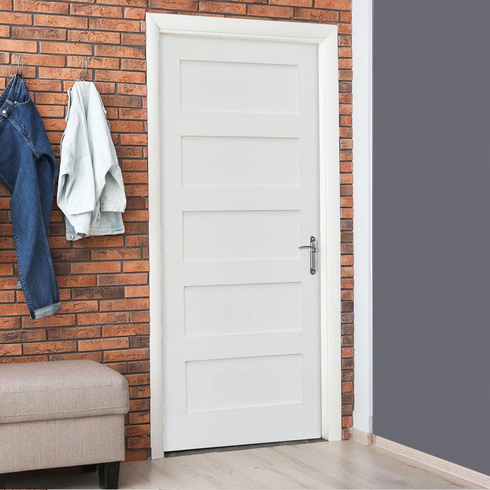 Reviews For Krosswood Doors 28 In X 96 In Shaker 1 Panel Primed Solid Hybrid Core Mdf Left Hand Single Prehung Interior Door Kw Sh111 2480 Lh The Home Depot