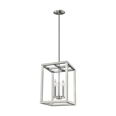 Moffet Street 3-Light Brushed Nickel Hall-Foyer Pendant
