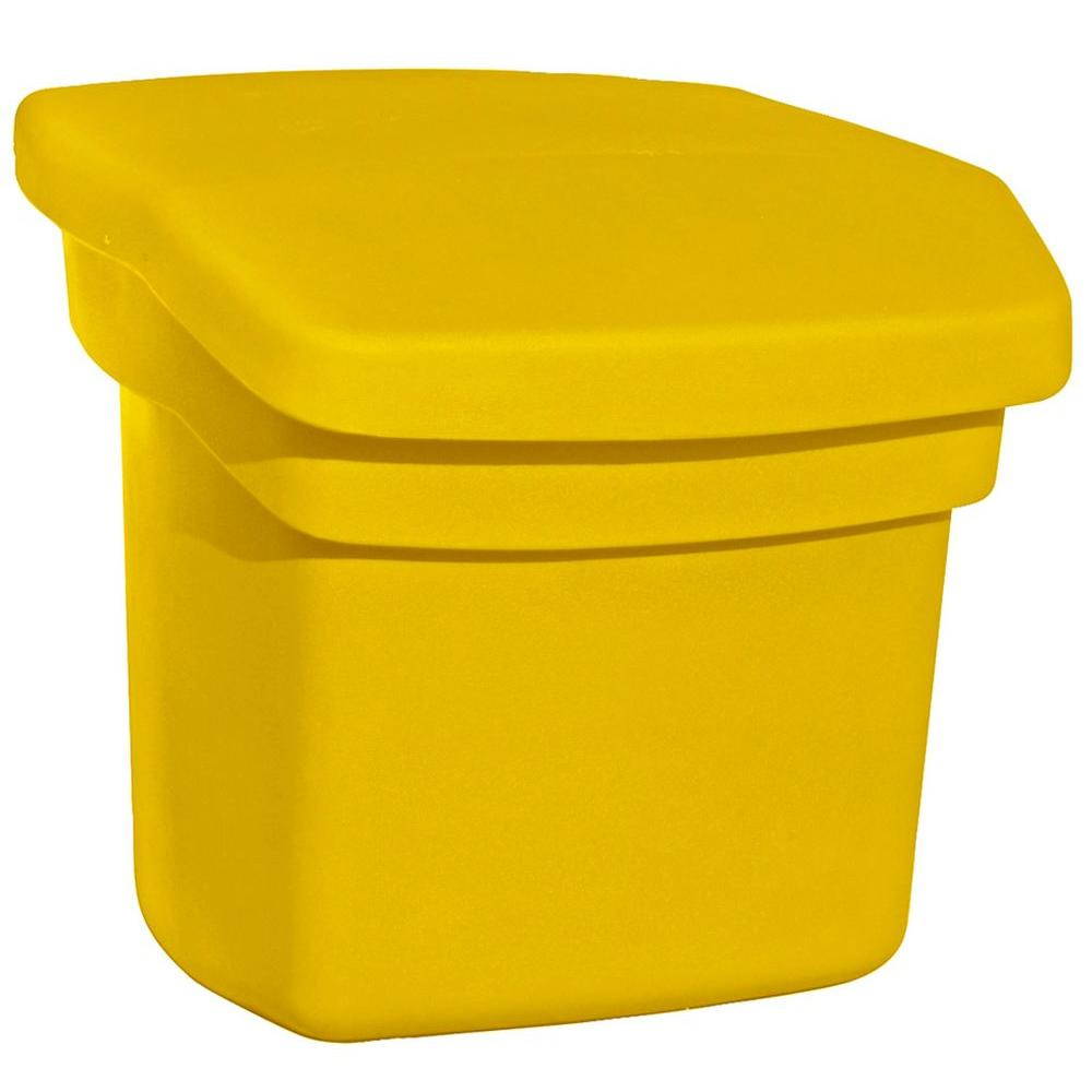 Outdoor Sand and Salt Storage Yellow Bin
