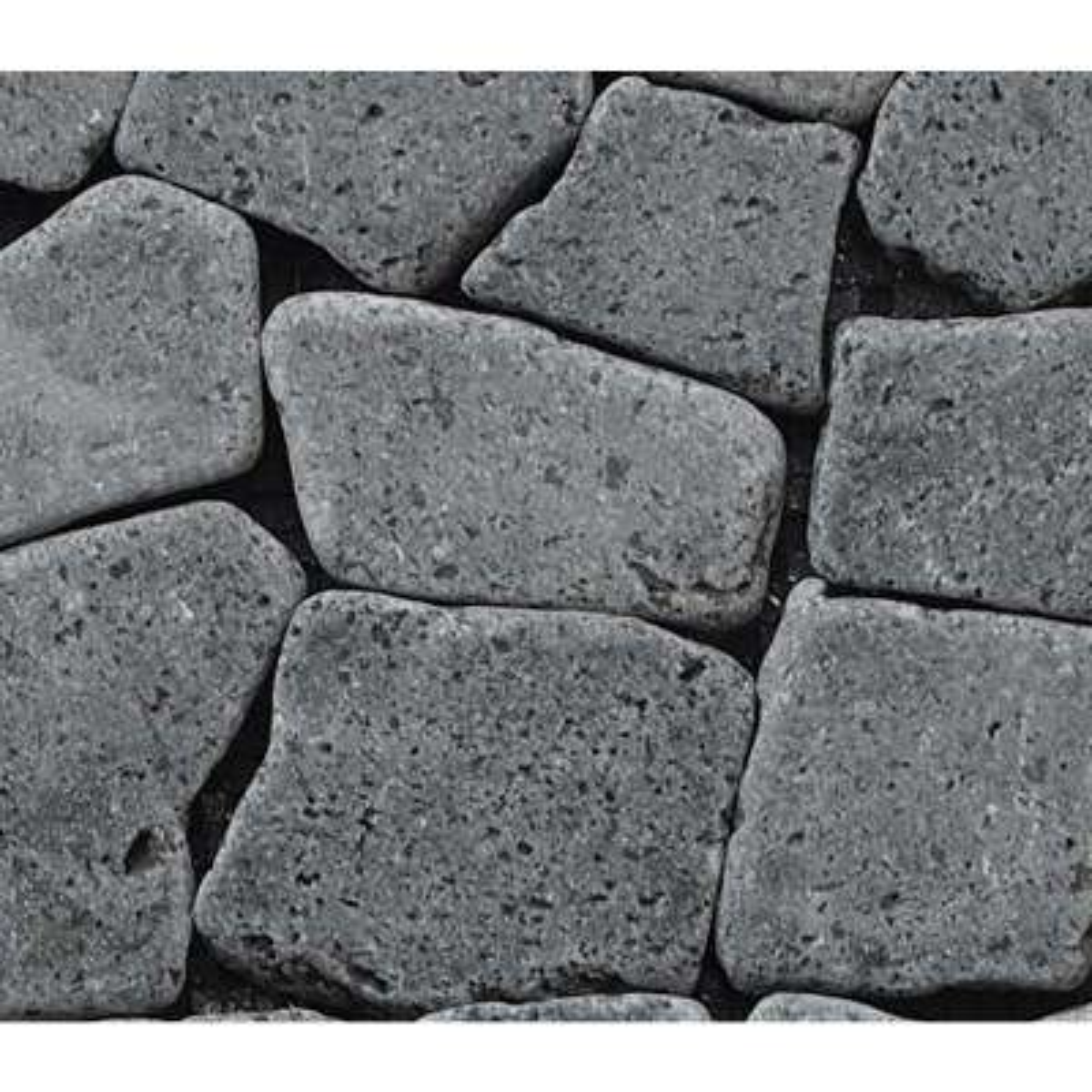 Fit Mosaic Tile Sample Color Black 4 in. x 6 in.