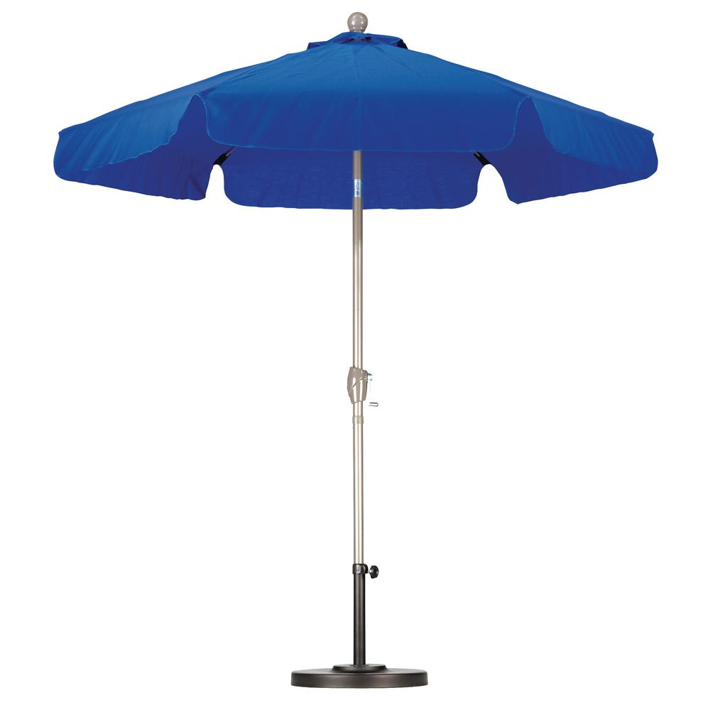California Umbrella 7 1/2 Ft. Fiberglass Push Tilt Patio Umbrella In Pacific