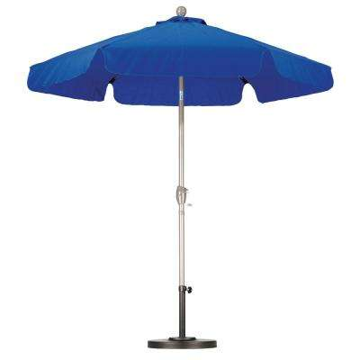 7-1/2 ft. Fiberglass Push Tilt Patio Umbrella in Pacific Blue SpunPoly