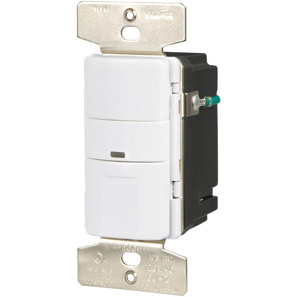 5 Amp 3-Way Wall Mount Vacancy Sensor, White