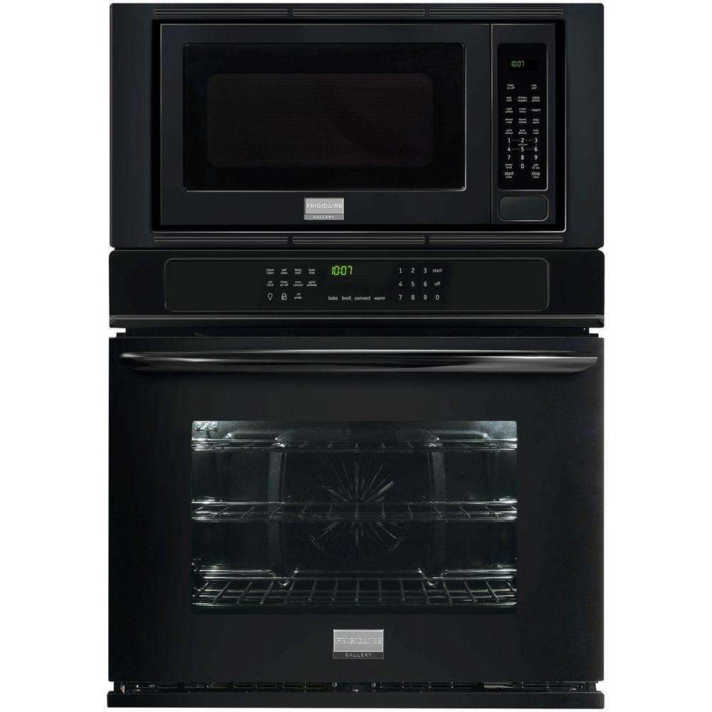 Frigidaire Gallery 27 In Electric Convection Wall Oven With Built Microwave Black