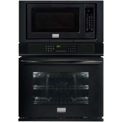 27 in. Electric Convection Wall Oven with Built-In Microwave in Black