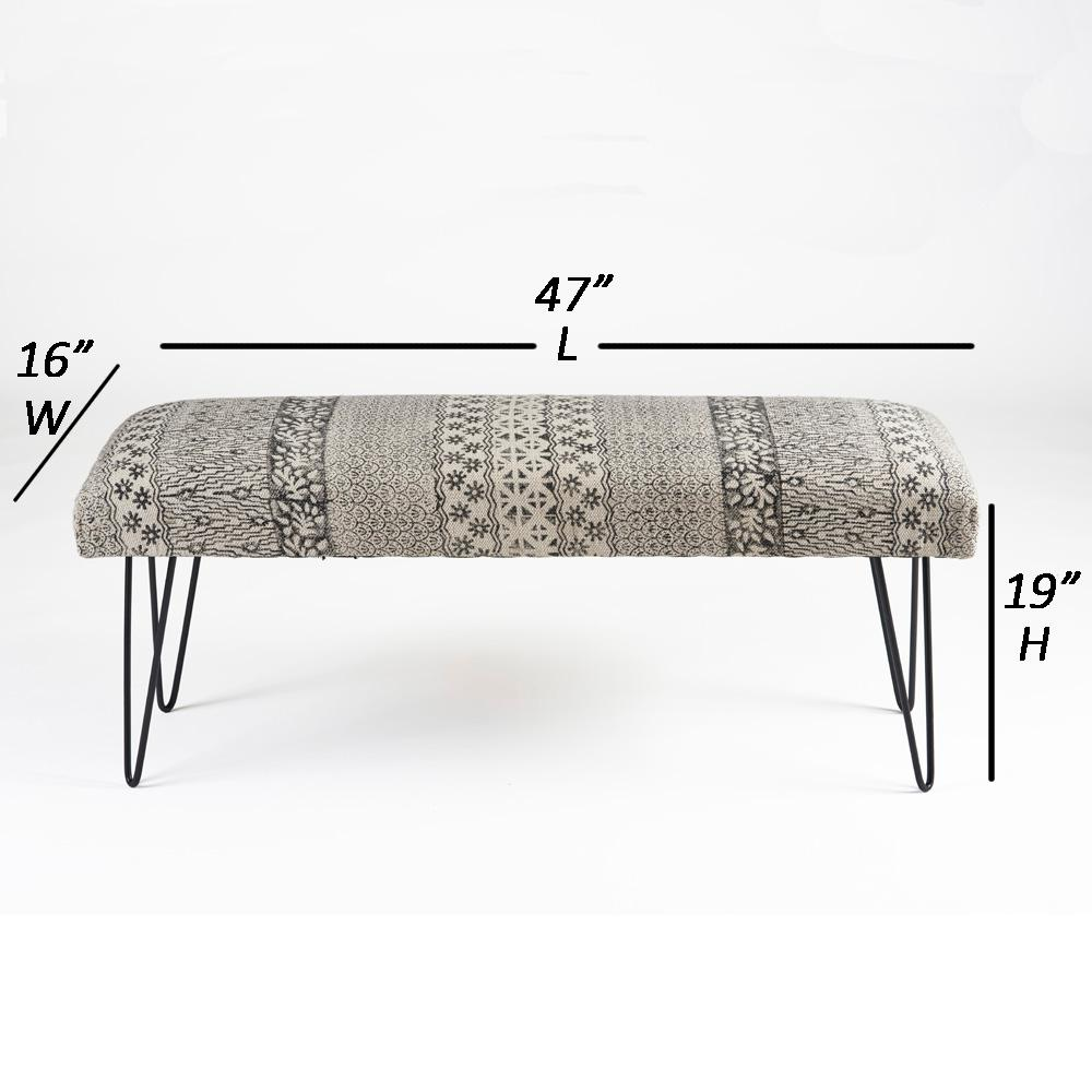Phenomenal Lr Resources Block Print Black White Upholstered Indoor Alphanode Cool Chair Designs And Ideas Alphanodeonline
