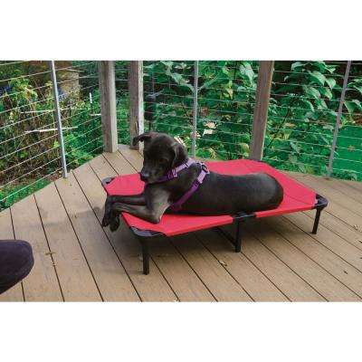 Elevated Pet Bed Comfort Cot with Ballistic Fabric and Washable Removable Cover - 42 in. Large