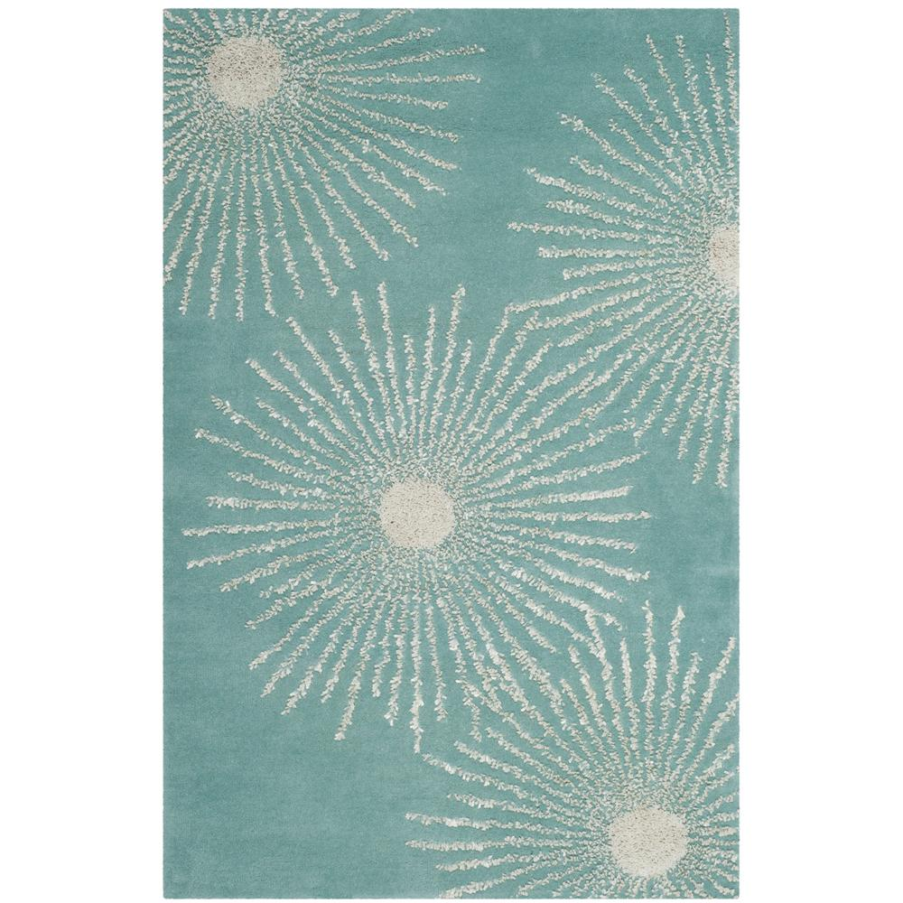 Safavieh Soho Light Teal/Multi 3 Ft. 6 In. X 5 Ft. 6 In