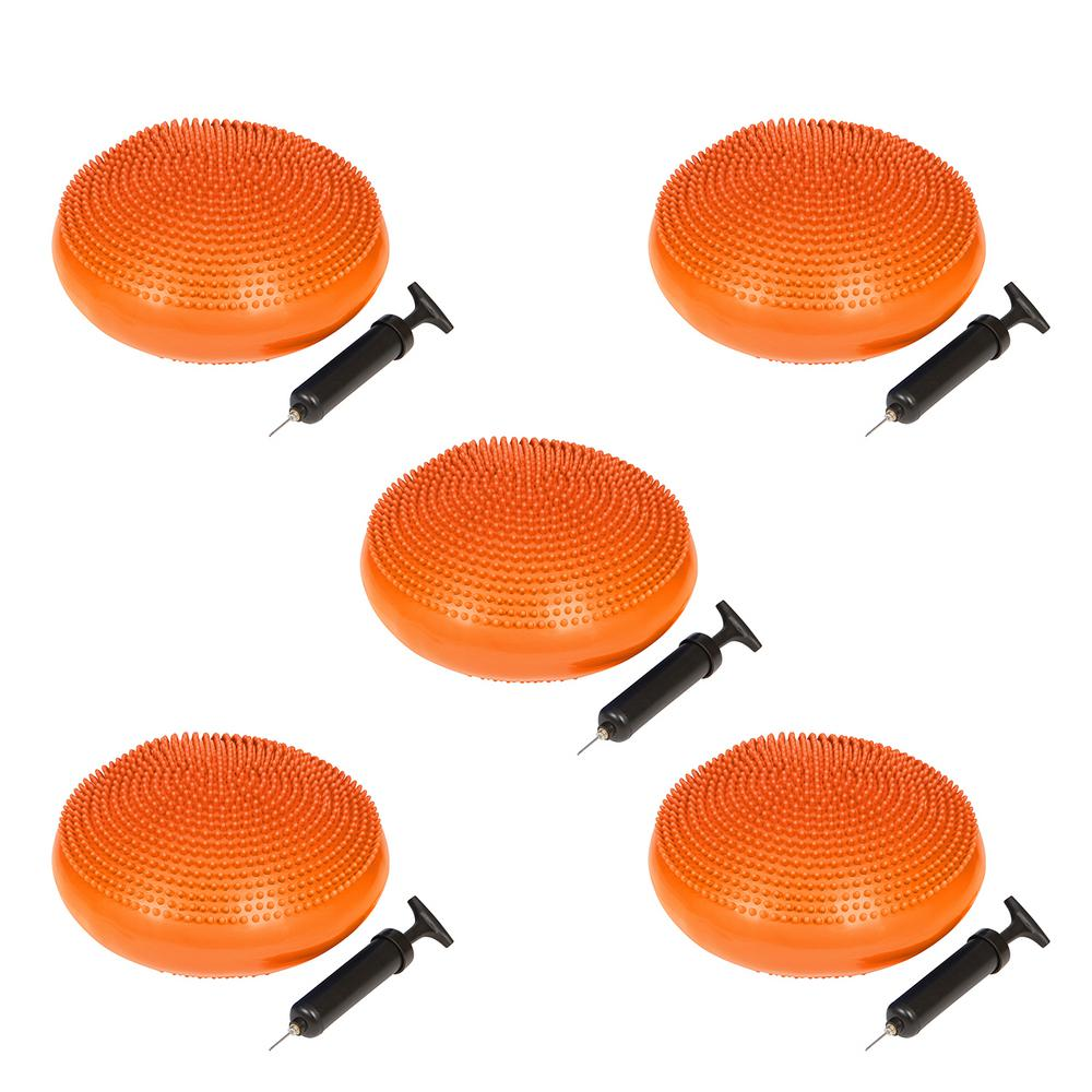 13 in. Dia PVC Fitness and Balance Disc in Orange (Set