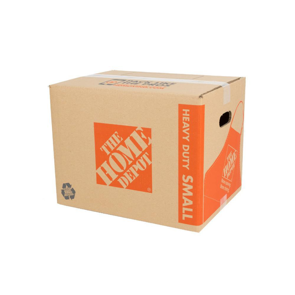 The Home Depot 16 in. L x 12 in. W x 12 in. D Heavy-Duty Small Moving Box with Handles (10-Pack)