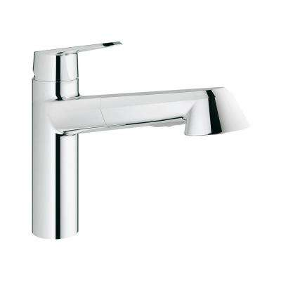 Eurodisc Cosmopolitan Single-Handle Pull-Out Kitchen Faucet in StarLight Chrome