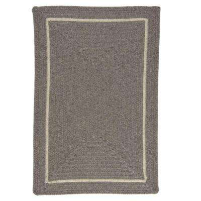 Natural Grey 3 ft. x 5 ft. Rectangle Braided Area Rug
