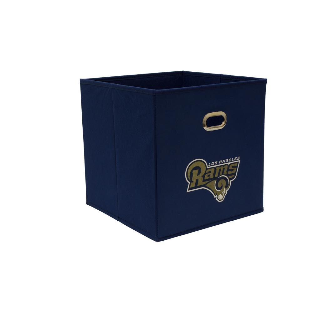 MyOwnersBox Los Angeles Rams NFL Store Its 10-1/2 in. x 10-1/2 in. x 11 in. Navy Blue Fabric Drawer