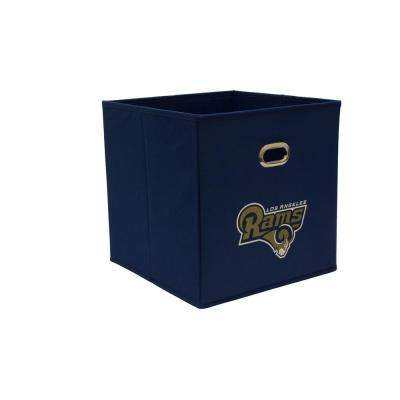 Los Angeles Rams NFL Store-Its 10-1/2 in. W x 10-1/2 in. H x 11 in. D Navy Blue Fabric Drawer