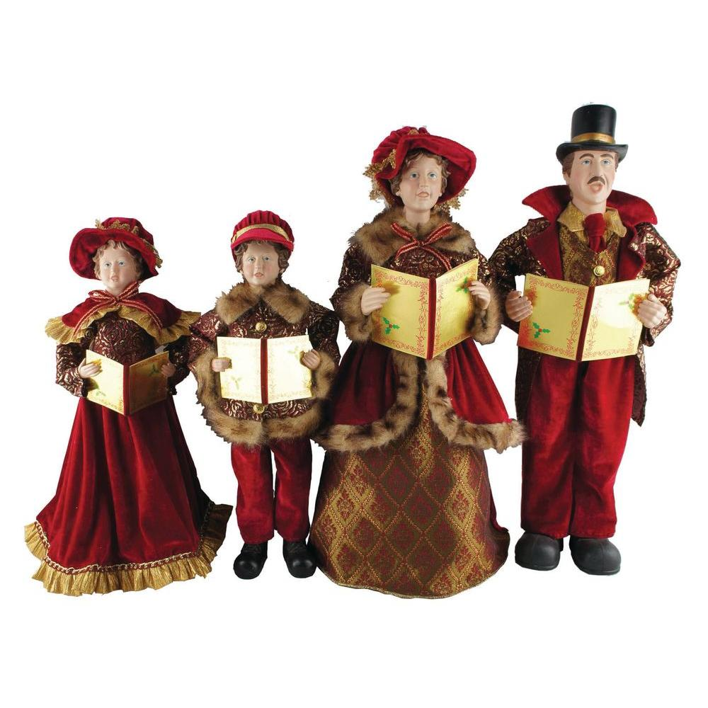 Christmas Caroling Costume.Santa S Workshop 20 In To 27 In Victorian Carolers 4 Set With Songbooks