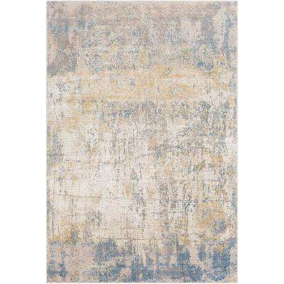 Halina Blue 9 ft. 3 in. x 12 ft. 3 in. Distressed Area Rug