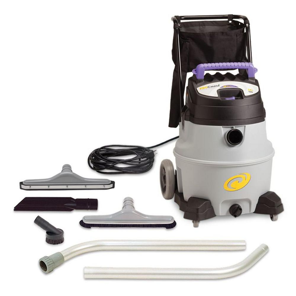 ProTeam ProGuard 16 Gal. Wet Dry Vac with Tool Kit, Grays
