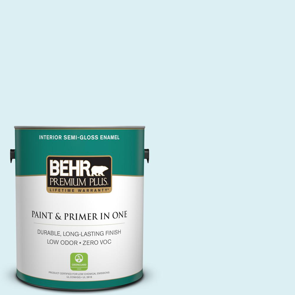 BEHR Premium Plus 1-gal. #510A-1 Soar Zero VOC Semi-Gloss Enamel Interior Paint
